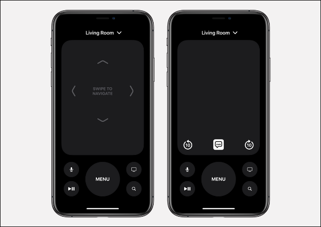 Apple TV Remote Interface on iPhone