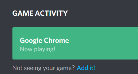 Browser Selected as Now Playing in Discord