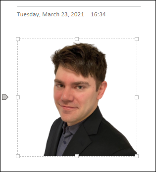 Cropped image in OneNote