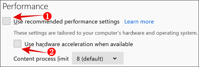 Disable hardware acceleration in Firefox