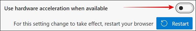 Disable Hardware Acceleration in Microsoft Edge