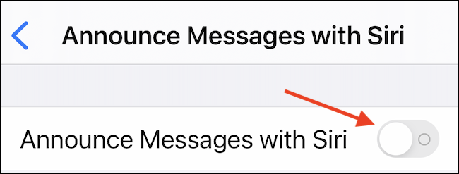 Enable Announce Messages with Siri Feature