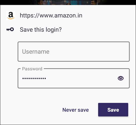 Firefox for Android Save Login Prompt