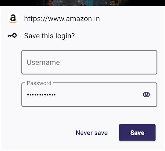 Firefox dành cho Android Lưu lời nhắc đăng nhập