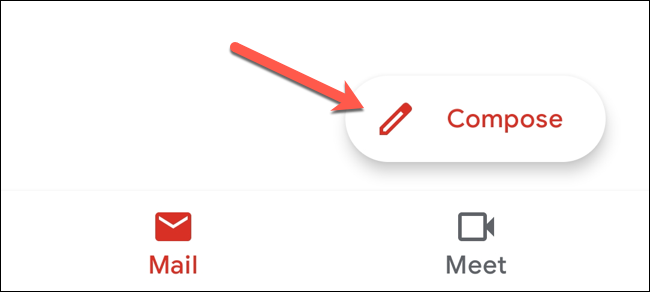 "In the Gmail app, tap the ""Compose"" button."