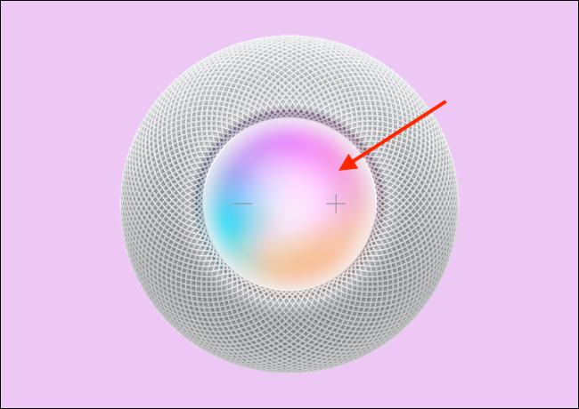Сенсорное управление HomePod mini