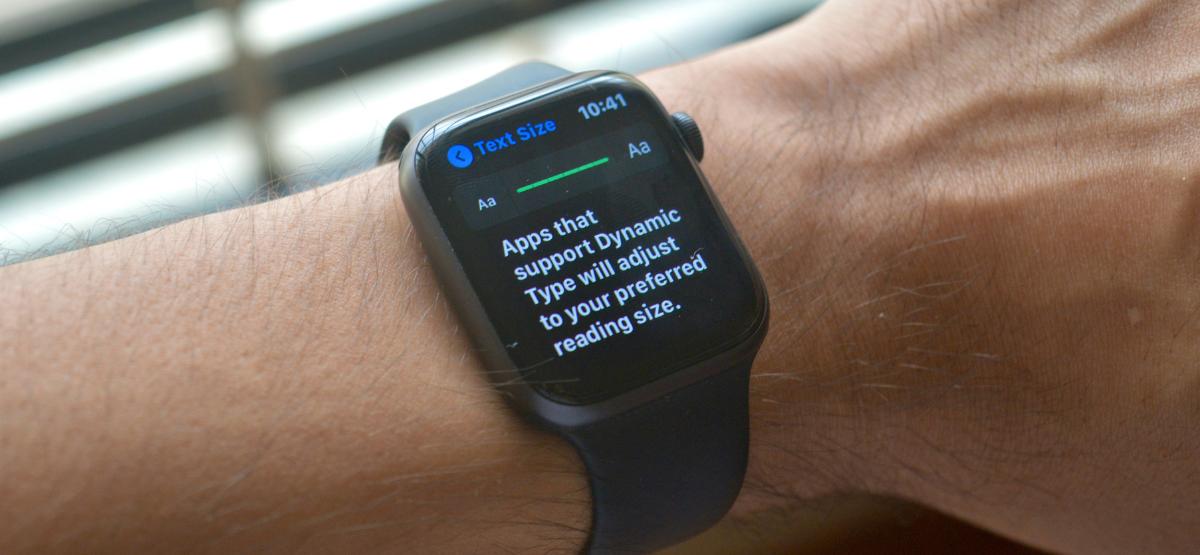 Увеличение размера текста на Apple Watch