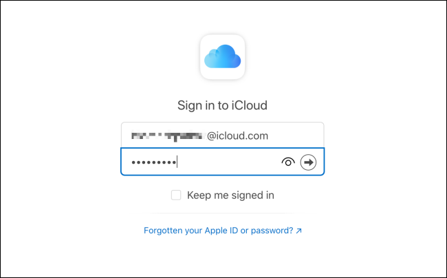 Log In to iCloud Mail