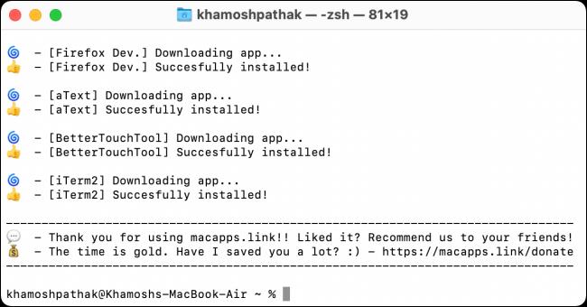 Macapps Installer Process Complete