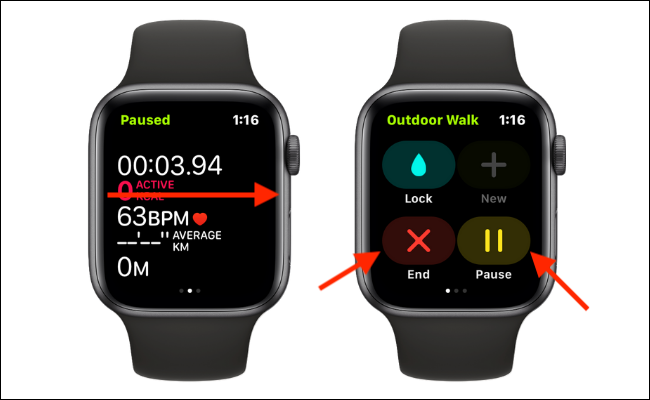 Manually End or Pause a Workout on Apple Watch