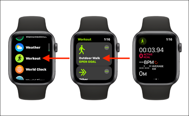 Manually Start a Workout On Apple Watch