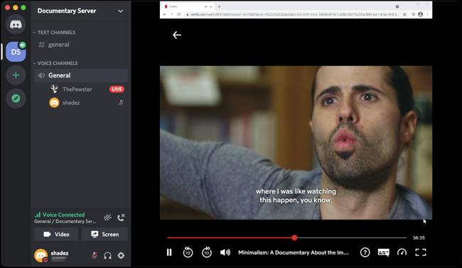 Netflix viewing from friends' Discord