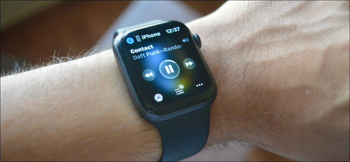 Now Playing Screen on Apple Watch