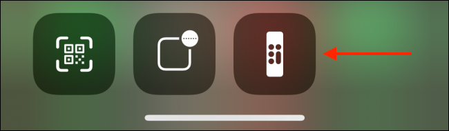 Open Apple TV Remote from Control Center
