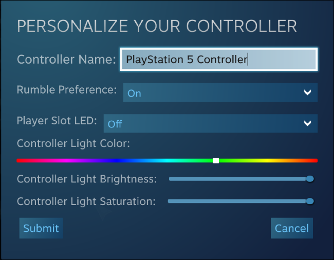 Personalize o seu controlador no Steam