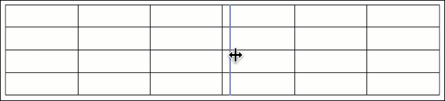 Click and drag a column border to resize it