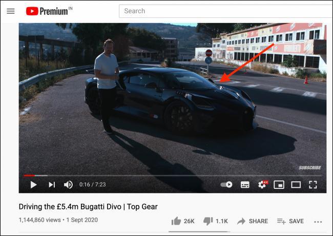 Right-click in video window