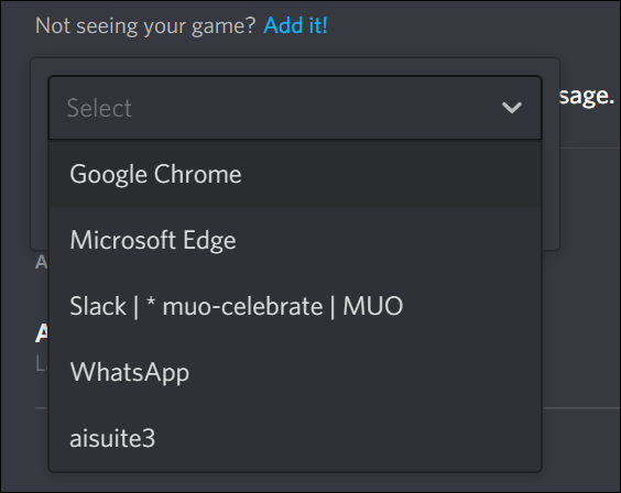 Select Browser from the drop-down list
