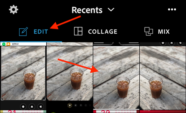Select Photo to Flip from Photoshop Express