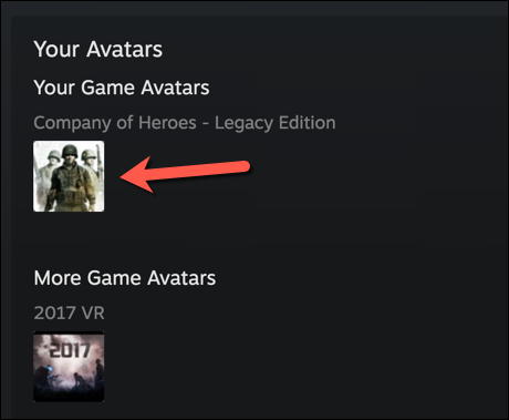 """To use one of the preset Steam profile pictures, select one of the options listed in the """"Avatars"""" menu, pressing """"See All"""" to view the full list."""