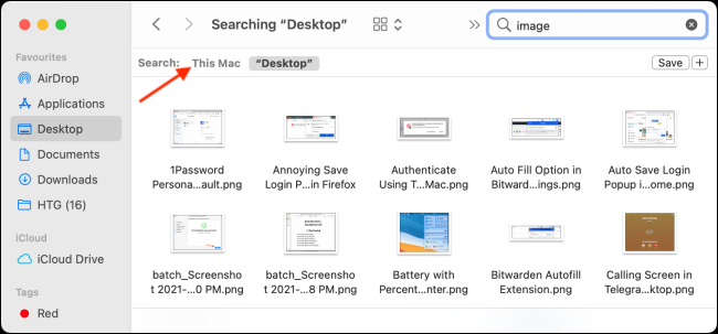 Chuyển sang Tìm kiếm Toàn bộ Mac trong Finder