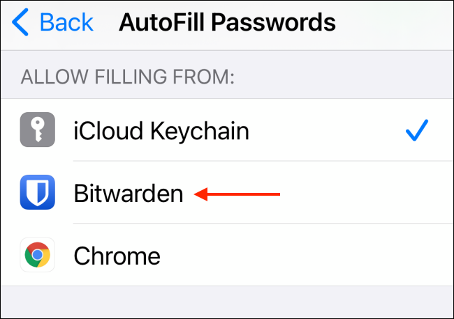 Switch to Third Party Password Manager