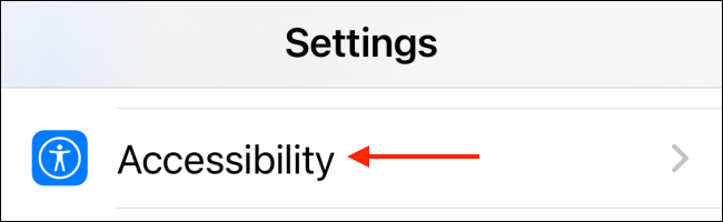 Tap Accessibility for Settings