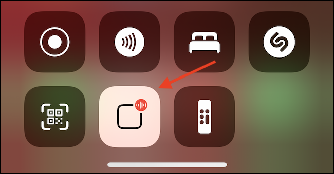 Tap Announce Messages Button in Control Center