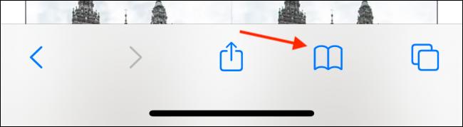 Tap Bookmarks Button in Safari