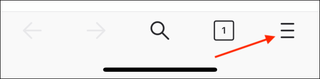 Tap Menu Button from Firefox Toolbar
