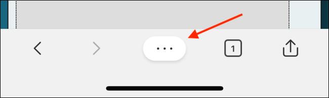 Tap Menu from Edge Toolbar
