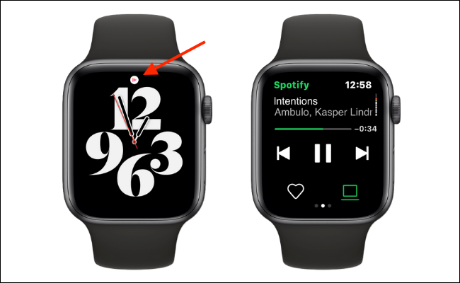 Tap Now Playing Button from Watch Face