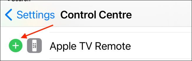 Tap Plus Next to Apple TV Remote