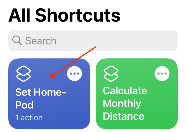 Tap Shortcut to Initiate