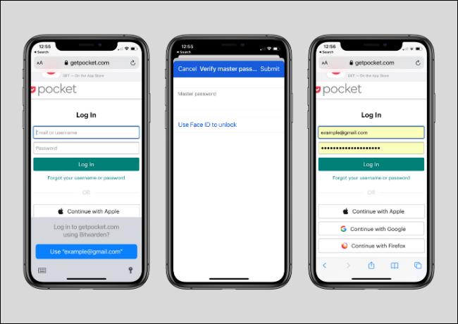 Using Bitwarden to Log in to Website Using AutoFill Feature on iPhone and iPad