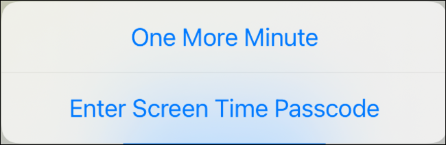 Extend the app limit by one minute on iOS