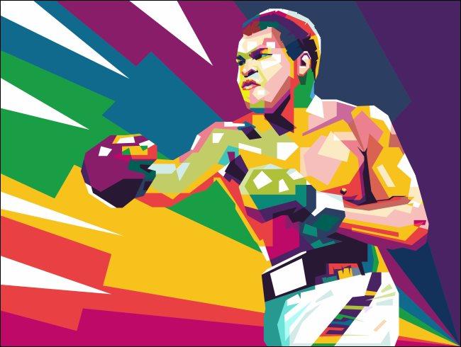 Muhammed Ali művészete.