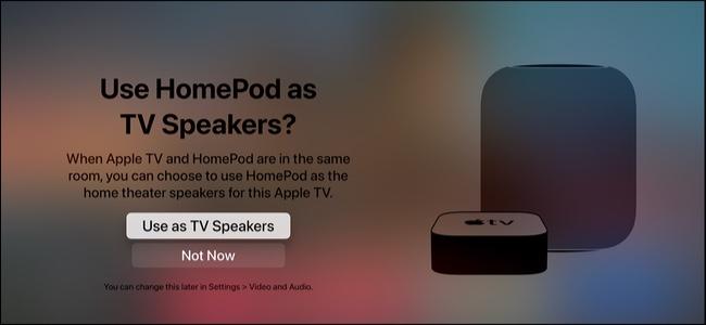 Use HomePod as default speaker for Apple TV 4K