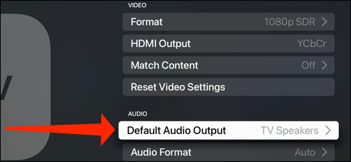 Select Standard audio output