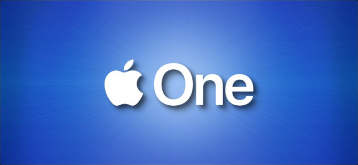 The Apple One logo on a blue background