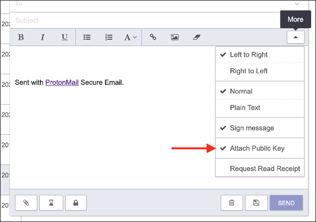 Attach Your PGP Public Key in ProtonMail