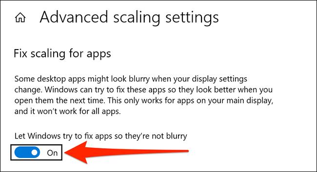 Correggi automaticamente le app sfocate