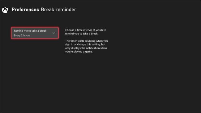 Enable Break Reminder Intervals