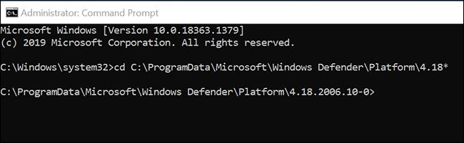 Go to the Microsoft Defender Antivirus folder