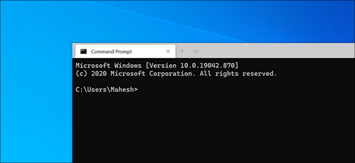 Windows Terminal with a Command Prompt shell.