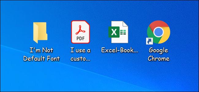 Change the default font in Windows 10