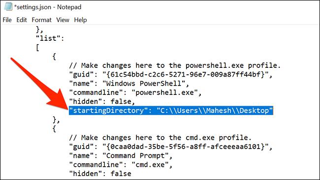 Изменить каталог PowerShell по умолчанию