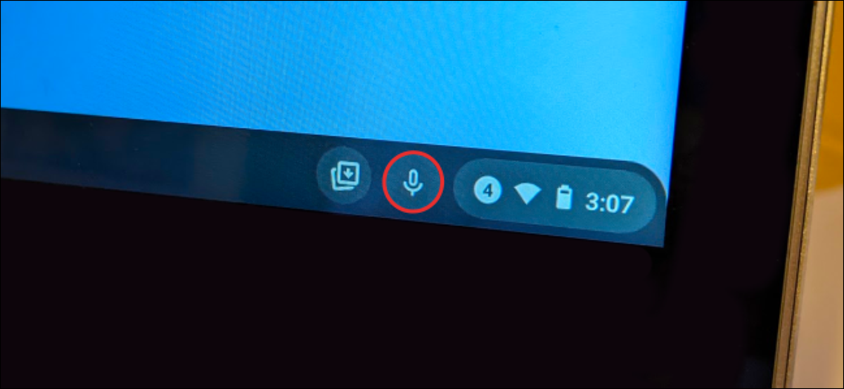 chromebook voice to text button