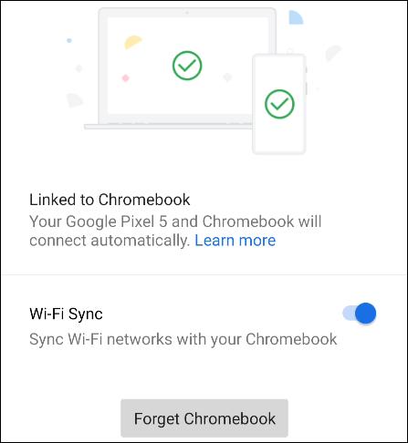 wi-fi sync settings on phone