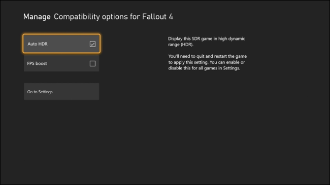 Enable FPS Boost on Xbox via Manage Game & Add-Ons Menu